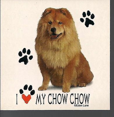 """I Love my Chow Chow 3 1/2"""" X 3 1/2"""" Magnet"""