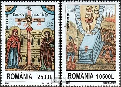Romania 5655-5656 (complete.issue.) unmounted mint / never hinged 2002 Easter
