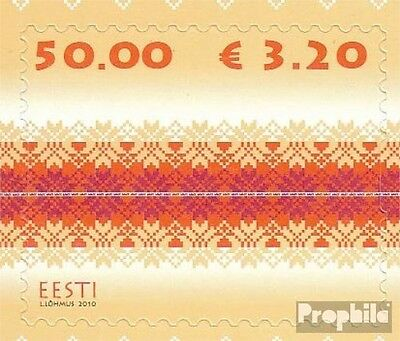Estonia 651 (complete.issue.) unmounted mint / never hinged 2010 Strickmuster