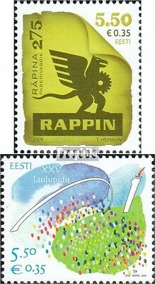 Estonia 639,641 (complete.issue.) unmounted mint / never hinged 2009 Rappin, fes