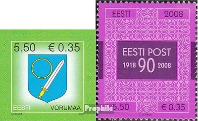 Estonia 625,626 (complete.issue.) unmounted mint / never hinged 2008 Crest, Post