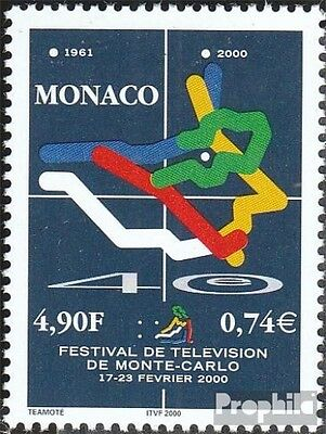 Monaco 2481 (complete.issue.) unmounted mint / never hinged 2000 Fernsehfestival