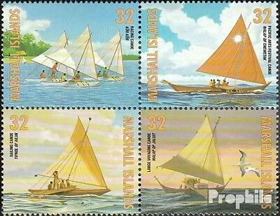 Marshall-Islands 835-838 block of four (complete.issue.) fine used / cancelled 1