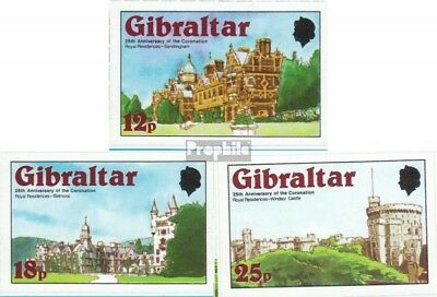 Gibraltar 375B-377B (complete.issue.) unmounted mint / never hinged 1978 Coronat