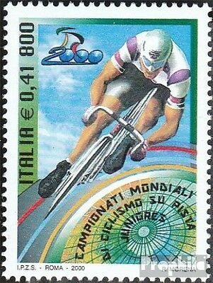 Italy 2712 (complete.issue.) unmounted mint / never hinged 2000 Roads-Cycling-WM