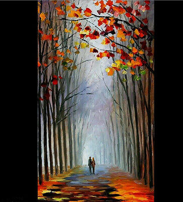 no frame Modern abstract tree wall decor landscape oil painting on canvas