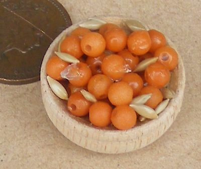 1:12 Scale Wood Bowl Of Assorted Nuts Miniature Dolls House Food Snack Accessory