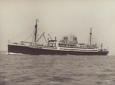 "PHOTOGRAPH OF HAMBURG AMERICA LINE ""ORINOCO"" by BEKEN of COWES"