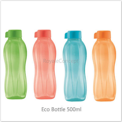 Tupperware On The Go Eco Bottle Sports Water Drink Bottles New 500ml 4pcs