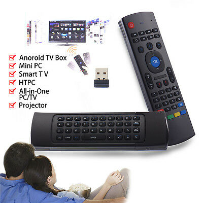 2.4GHz Fly Air Mouse Wireless Qwerty Keyboard Remote For PC Android XBMC MX3 M8