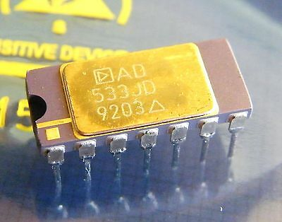 2x AD533JD analog multiplier, divider, squarer, square rooter, Analog Devices