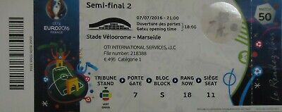 TICKET UEFA Euro 2016 Germany vs France Match 50