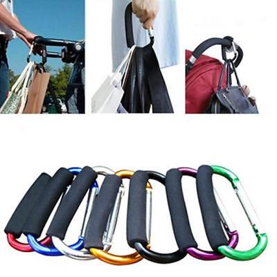 New Aluminum Carabiner D-Ring Key Chain Clip Hook Buckle Outdoor Baby Stroller W