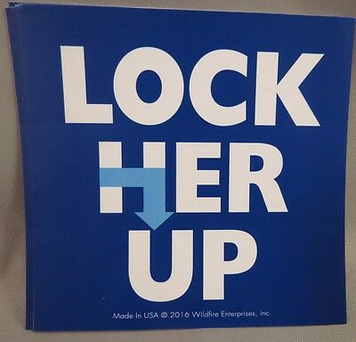 WHOLESALE LOT OF 10 ANTI HILLARY LOCK HER UP STICKERS Trump for President 2016 $