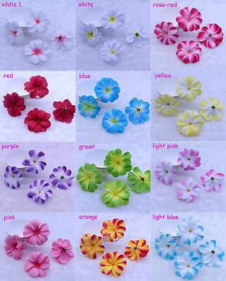 NEW 20-50PCS 8CM Hawaiian Plumeria flowers Frangipani wedding DIY Crafts 12color