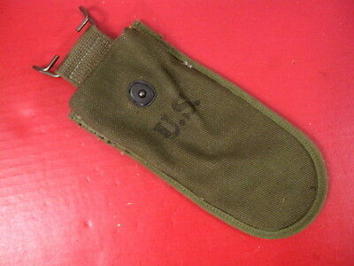 WWII US Army M1938 Canvas Wire Cutter Belt Pouch Dated 1945  OD Color - Unissued