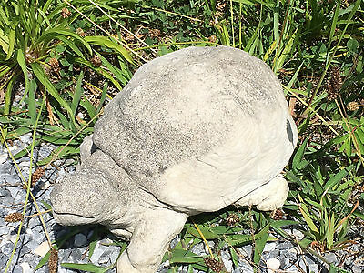 Vintage Cement Turtle 20 Years Old Garden Statue Aged to Prefection Made In USA
