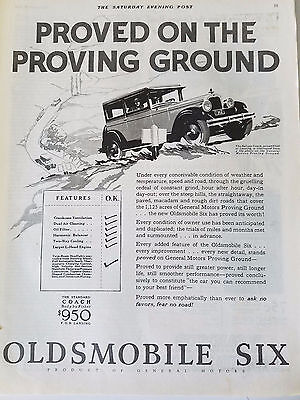 1926 Oldsmobile Six Car The Deluxe Coach Automobile Original Print Ad