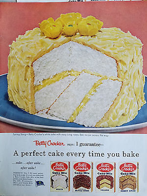 1954 Betty Crocker Cake Mix White Devils Food Honey Spice Yellow Original Ad