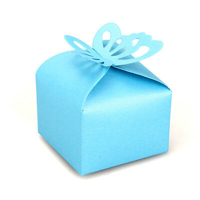 12 Butterfly Bridal Wedding Candy Gift Bag Box Party Favor Blue