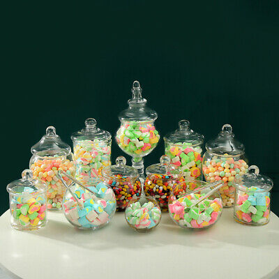 12 PCS  Large Candy Lolly Buffet Glass Assort Size Wedding Party  Jars Bowls