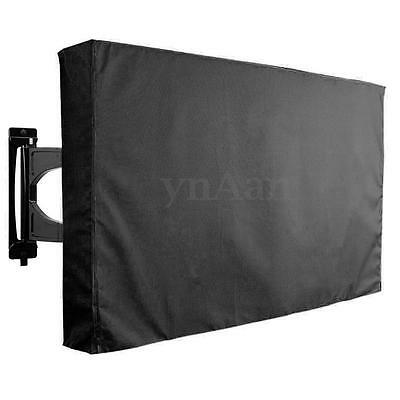 "30"" - 52"" Flat TV Waterproof Dust Cover Outdoor Wall Mount Television Protector"