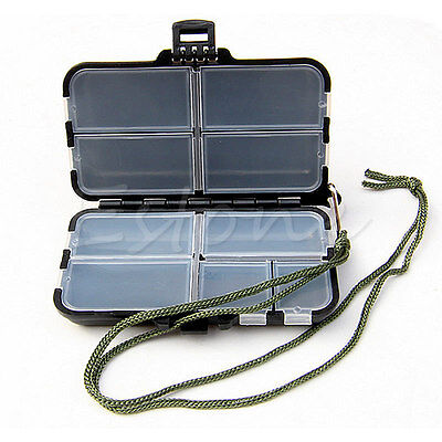 Fishing Lure Bait Tackle Waterproof Storage Box Bag Case With 9 Compartments New