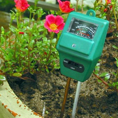 PH Tester Plants Flower Moisture Light Test Meter Hygrometer Sensor Garden Tool