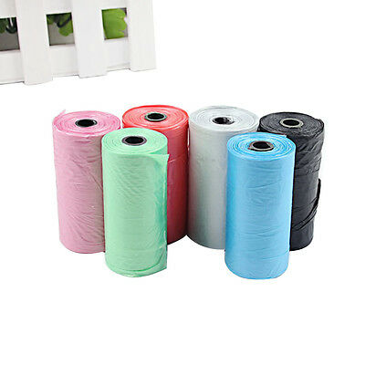1/5/10/20 Rolls Biodegradable Pet Dog waste Garbage bags Puppy Clean Up Print