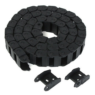 10x20mm Single Size 1M Meter Length Nylon Drag Chain Wire Carrier for CNC Router