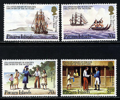 PITCAIRN ISLANDS 1983 The Complete Discovery of Settlers Set SG 238 - SG 241 MNH