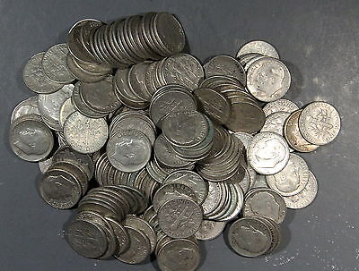 1946-1964 Roosevelt Dimes, Lot Of 30 90% Silver Inv B484
