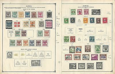 Samoa 1887 to 1940 On 2 Scott International Pages, British Colony