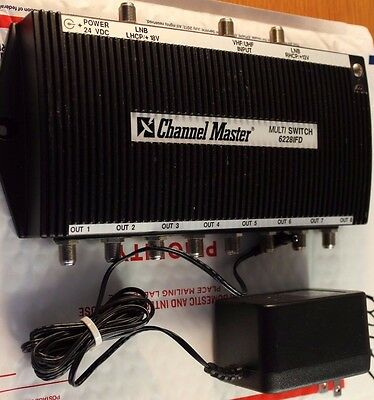Channel Master Dtv 4 X 8 Multiswitch 6228Ifd 8 Output With Transformer Matv#m137