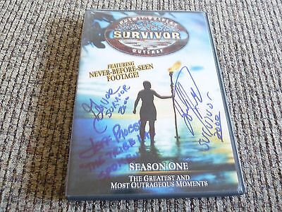 Survifor Jeff Probst Garvis Peterson & Joel Klug Signed DVD Cover PSA Guaranteed