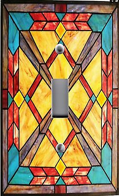 Light Switch Plate Outlet Covers ~STAINED GLASS LOOK ~ SOUTHWEST SUNSET
