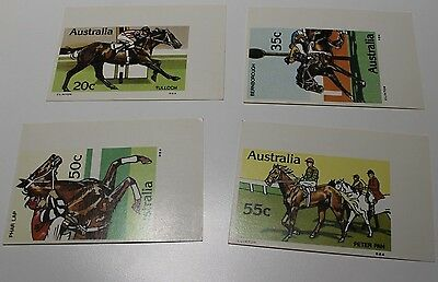 Mint 1979 Horse Racing Set Of 4 1St Series Maxi Cards