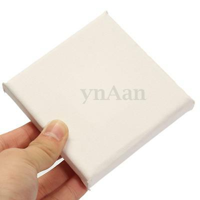 Artist Plain Blank Canvas Board Framed 10cm Square Small Art Painting Gift Fun
