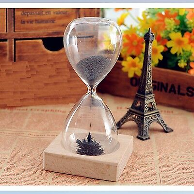 Magnetic Sand Timer Glass Time Gift Reversible Magnetic Sculptures Hourglass CG6