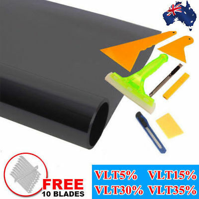 Pro Car Home Window Tint Film Black Roll 5% 15% 30% 35% VLT Tinting Tools Kit