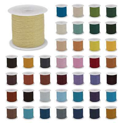 10m Roll Round Thread Leather Cord Thong 1-6mm Jewelry Craft Bracelet DIY