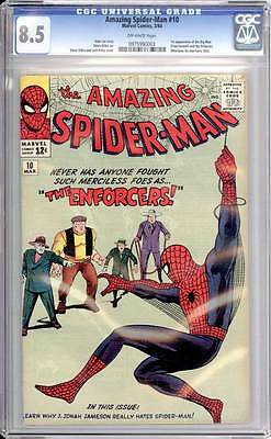 Amazing Spider-Man # 10  The Merciless Enforcers !  CGC 8.5  scarce book!
