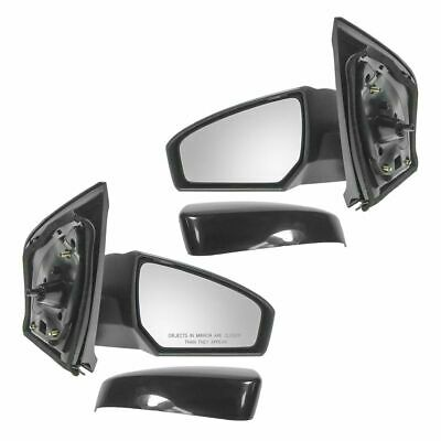 Mirrors Side View Manual Left LH & Right RH Pair Set for 07-11 Nissan Sentra