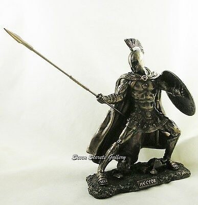 Hector' Champion of Troy Greek Warrior Statue Figurine Sculpture Ornament NEW IN