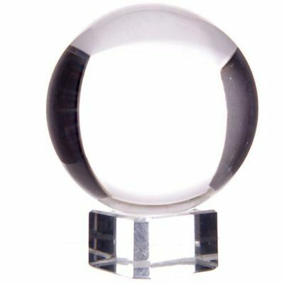NEW GLASS CRYSTAL BALL WITH STAND IN LISA PARKER ILLUSTRATED GIFT BOX 5cm B01
