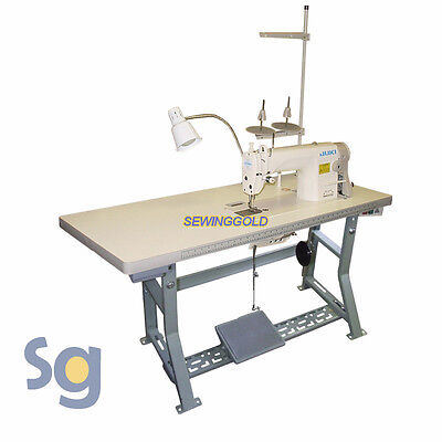 JUKI DDL-8700 Industrial Sewing Machine with Servo Motor, Stand and Setup DVD
