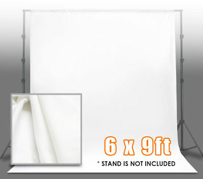 6 x 9 Ft White Muslin Backdrop Photo Studio Photography Background US SELLER