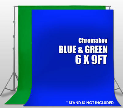 6X9ft  Chromakey GREEN&BLUE Screen Muslin Backdrop Photo Photography Background