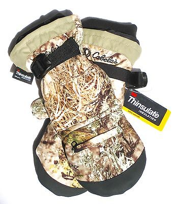 Cabela's MT050 Extreme II Thinsulate Insulated Mens Hunting Camo Glomitts Gloves