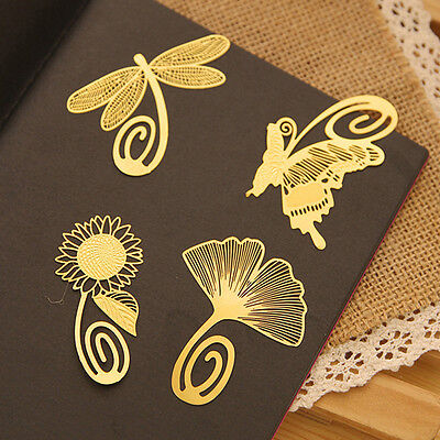 Mini Metal Classical Chinese Style Gold Bookmarks Note Reading Mark Paper Clip